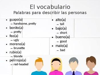¿Cómo somos? Así se dice Capítulo 1 Vocabulary Presentation and Practice