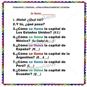 ¿Cómo te llamas? ¿Cómo se llama? - Personalized QUESTIONS For Spanish Class!