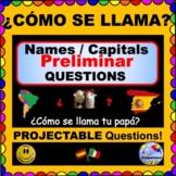 ¿Cómo te llamas? ¿Cómo se llama? - Names & Spanish Country Capital Questions