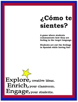 ¿Cómo te sientes? A game of charades for feelings in Spanish