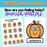 ¿Cómo te sientes hoy? Autumn posters for Spanish Classroom