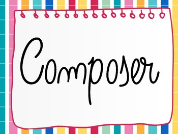 'Composer of the Month' Header - FREE