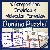 % Composition, Empirical & Molecular Formulas Domino Puzzle