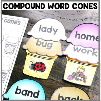 """""""Compound Words Ice Cream Cones"""" Center"""