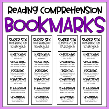 {Comprehension Strategies} Bookmarks // FREE