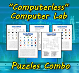 """Computerless"" Computer Lab Puzzles Combo"