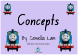 """""""Concepts"""" with Thomas the Tank Engine - interactive story book for children"""