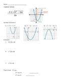 *Conceptual* Quadratic Formula Guided Notes/Practice