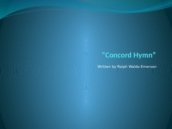 """""""Concord Hymn"""" PowerPoint Core Knowledge"""