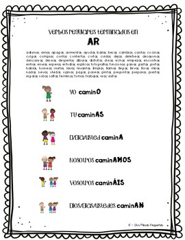 """Conjugaciones"" ~ Spanish Conjugation ~ Student Reference Rings & Posters"