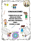 """""""Conjugaciones"""" ~ Spanish Conjugation ~ Student Reference Rings & Posters"""