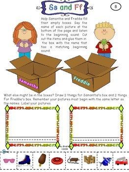 """Consonant Kids"" CCSS Aligned Beginning Consonant Differentiated Activities"
