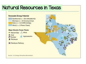Map Of Texas Natural Resources.Continents And Natural Resources Presentation