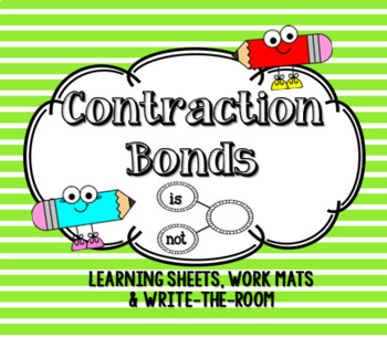 **Contraction Bonds!** Great resource for ELA lesson on contractions!!