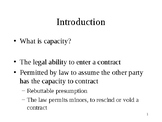 """Contractual Capacity"" Contract Element - Presentation / Lesson"
