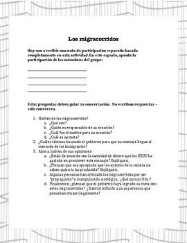 """""""Conversaciones de la inmigración"""" Immigration Issues for the Spanish Classroom"""