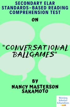 """Conversational Ballgames"" Nonfiction by Nancy Masterson Sakamoto Reading Test"