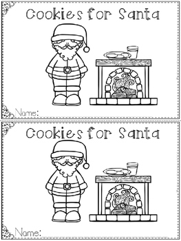 """Cookies for Santa"" Emergent Reader (A Christmas/December"