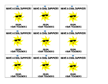 photograph regarding Have a Cool Summer Printable referred to as Contain A Awesome Summer months Tags Worksheets Schooling Elements TpT