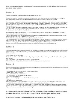 'Coraline' Film Study Booklet