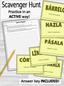 Affirmative Tú Commands and Pronouns ¡Corre en Círculos! Activity