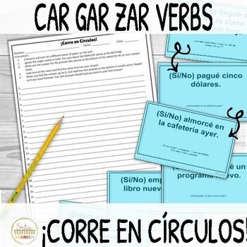 ¡Corre en Círculos!- CAR GAR ZAR Verbs in the Preterite Tense