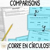 Comparisons in Spanish ¡Corre en Círculos! Activity with D