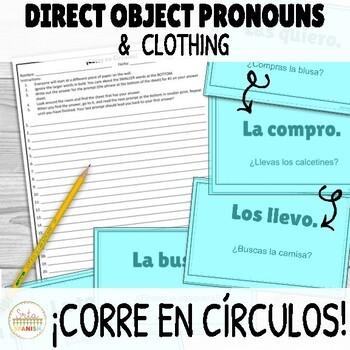 ¡Corre en Círculos!- Direct Object Pronouns + Clothing