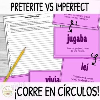 ¡Corre en Círculos!- Preterite vs Imperfect in Spanish