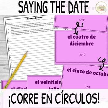 ¡Corre en Círculos!- Say the Date in Spanish