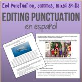 ¡Corregir Puntuación en español! 4th grade EDITING for SPA