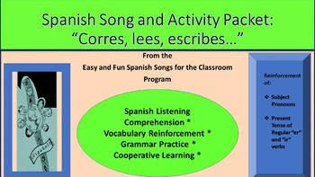 """Corres, lees y escribes"": Song and Activity packet"