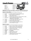 """""""Couch Potato"""" Thematic Vocabulary Lesson"""