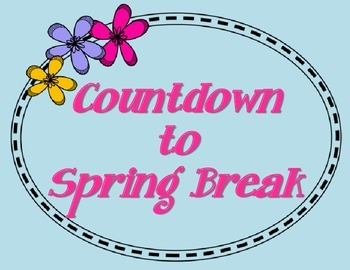Image result for countdown to spring break