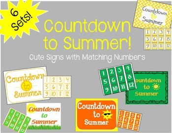 """Countdown to Summer"" Bulletin Board Set / Counting"