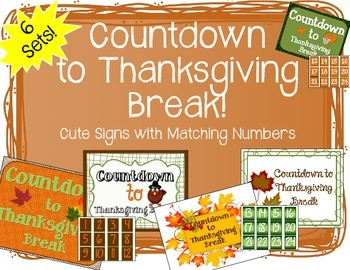 """Countdown to Thanksgiving"" Bulletin Board Set"