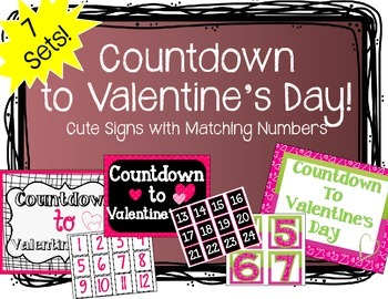 """Countdown to Valentine's Day"" Bulletin Board Set"