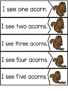 """Counting Acorns"" (Fall/September Emergent Reader Dollar Deal)"