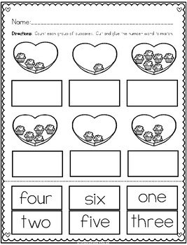 """""""Counting Cupcakes"""" (Counting/February Emergent Reader Dollar Deal)"""