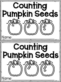 """Counting Pumpkin Seeds"" (Fall/October Emergent Reader Dollar Deal)"