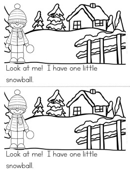 """Counting Snowballs"" Emergent Reader (A December/January/Winter Dollar Deal)"