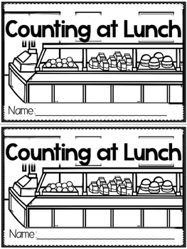 """""""Counting at Lunch"""" (A Back to School Emergent Reader Doll"""