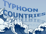▶️Countries of the World Typhoon Game - Word Prompt & Picture Prompt - K-3 - PPT