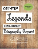 """""""Country Music Legends"""" Biography Project"""