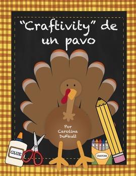 """Craftivity"" día de acción de gracias"