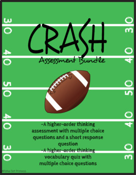 """""""Crash"""" by Jerry Spinelli - Assessment Bundle [HIGHER ORDER THINKING QUESTIONS]"""