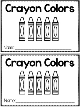"""""""Crayon Colors"""" (A Back to School Emergent Reader Dollar Deal)"""