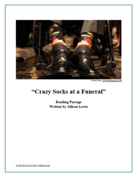 """""""Crazy Socks at a Funeral"""" Reading Passage"""