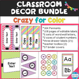 """Crazy for Color"" Decor Bundle - Colorful Dots, Stripes, a"