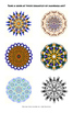 """""""Create Your Own Mandala"""" : Symmetry Art Lesson with Template"""